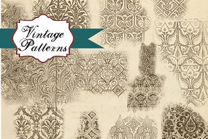 Vintage Patterns Clipart & Brushes
