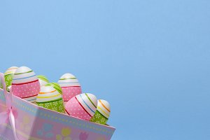 Eggs and macaroons Easter theme