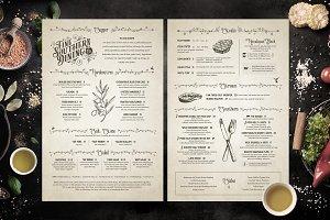 Classic Vintage Restaurant Menus