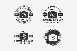 Vintage of Photography logo set vect