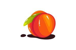 fresh realistic Peach fruit vector i