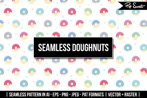 Seamless Doughnuts Vector
