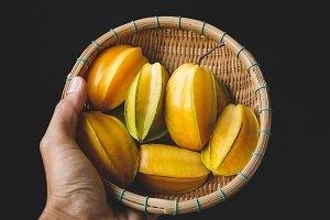 Fresh starfruits
