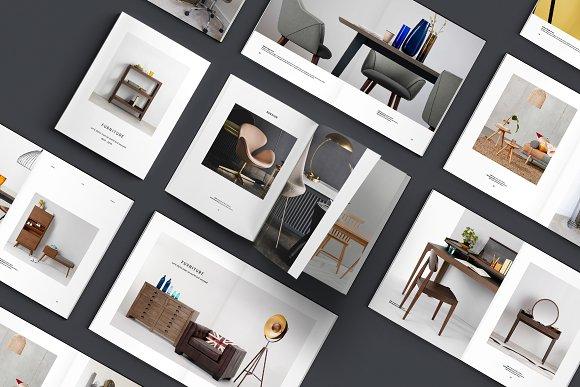C E N T R E — Furniture Catalog in Brochure Templates