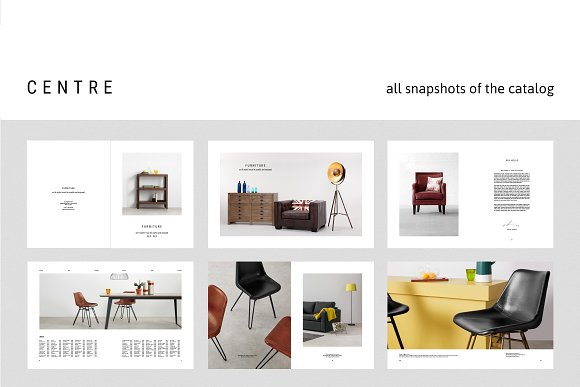 C E N T R E — Furniture Catalog in Brochure Templates - product preview 4