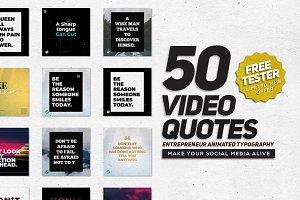 VIDEOGRAM Typography Quotes