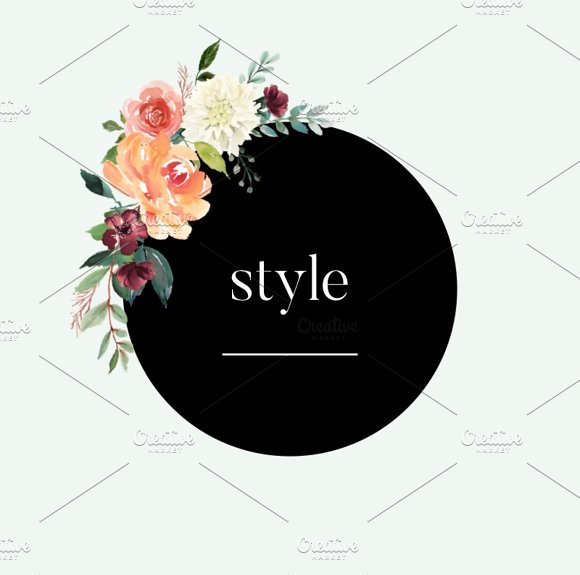 Black & Floral Insta Stories Pack in Icons - product preview 6