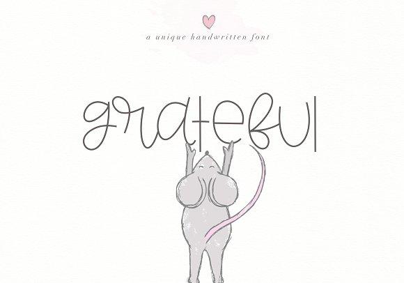 Grateful Handwritten Font