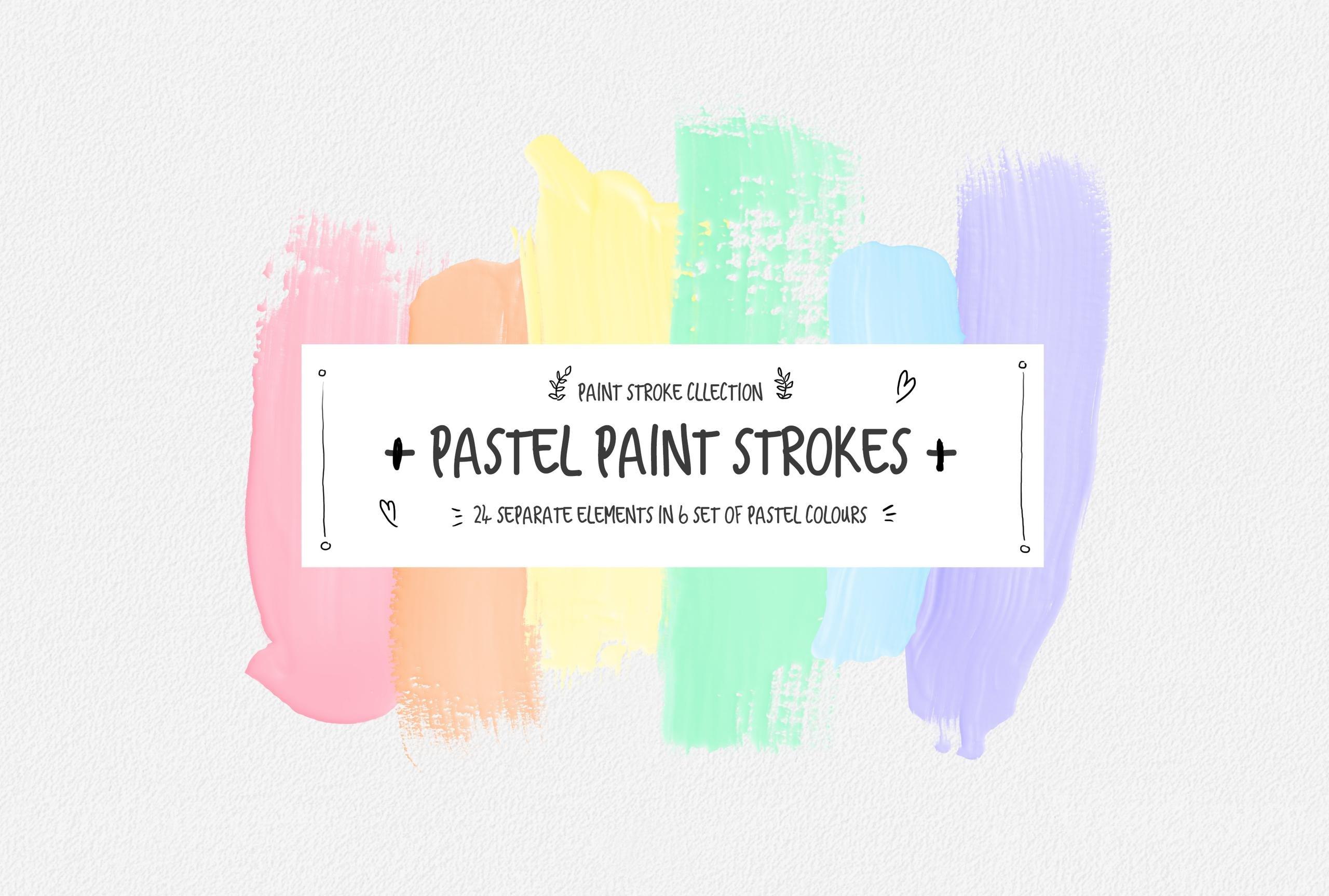 Pastel Aesthetic Paint Strokes ~ Illustrations ~ Creative ...
