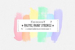 Pastel Aesthetic Paint Strokes