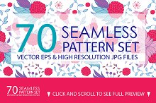 70 Seamless Floral Pattern Set