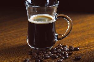 Luxury coffee mug on the table