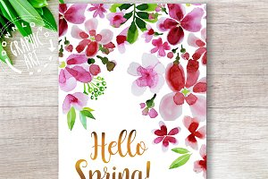 Printable easter cards&#x3B;Hello Spring