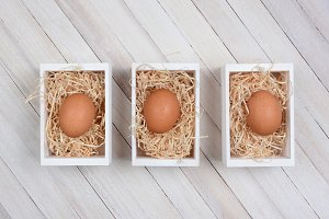 Eggs in Wood Crates