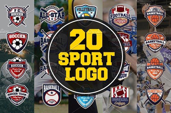20 Sport Team Logos Template