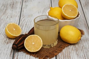Glass of lemon juice