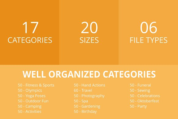 860 Activities Filled Round Icons in Graphics - product preview 2