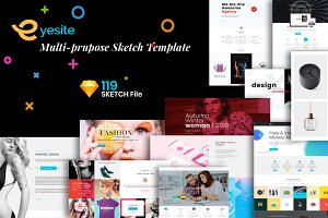 Multi-Prupose Sketch Template UI Kit