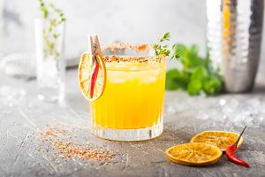 Refreshing summer citrus cocktail