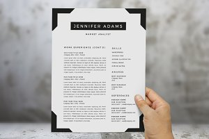 Frame 2 in 1 Word resume template