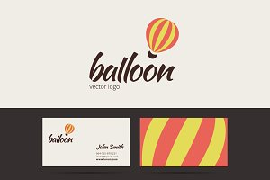 Air balloon logo template.
