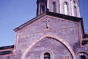 retro of a photo of the church