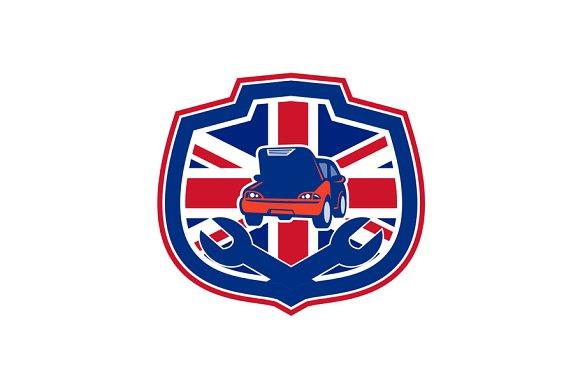 British Auto Repair Shop Union Jack