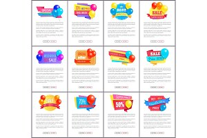 Special Discount Weekend Sale Best Balloons Label