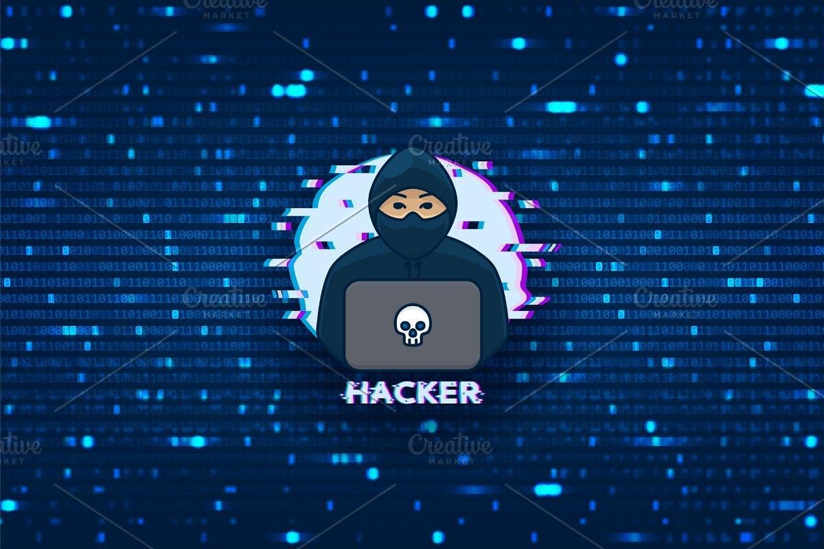 Hacker logo template