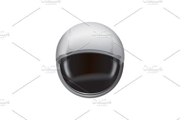Helmet Of Spacesuit Poster Vector Illustration