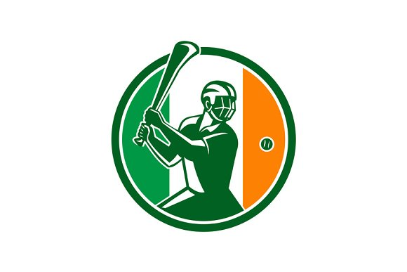 Hurling Ireland Flag Icon