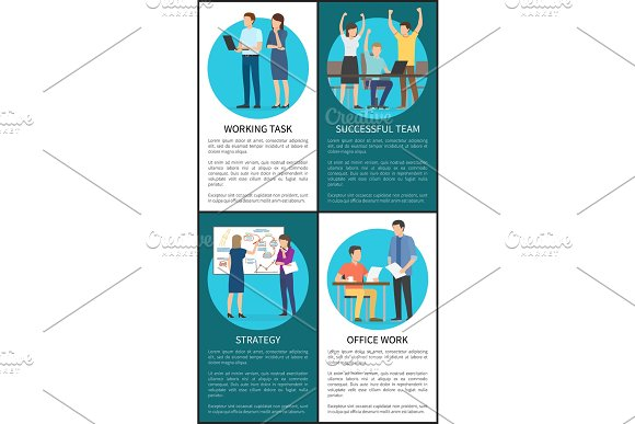 Working Task And Strategy Vector Illustration