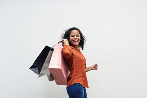 Woman enjoy shopping on the weekend