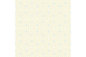 Seamless Abstract Vector Pattern With Hexagons