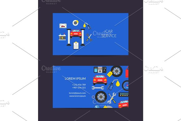 Vector Card Template For Auto Service