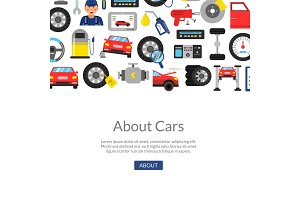 Vector background car service