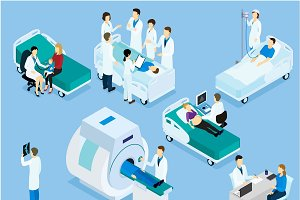 Healthcare Isometric Set