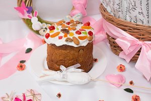 Easter cake with basket