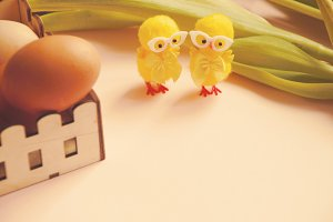 Eggs and Easter chickens