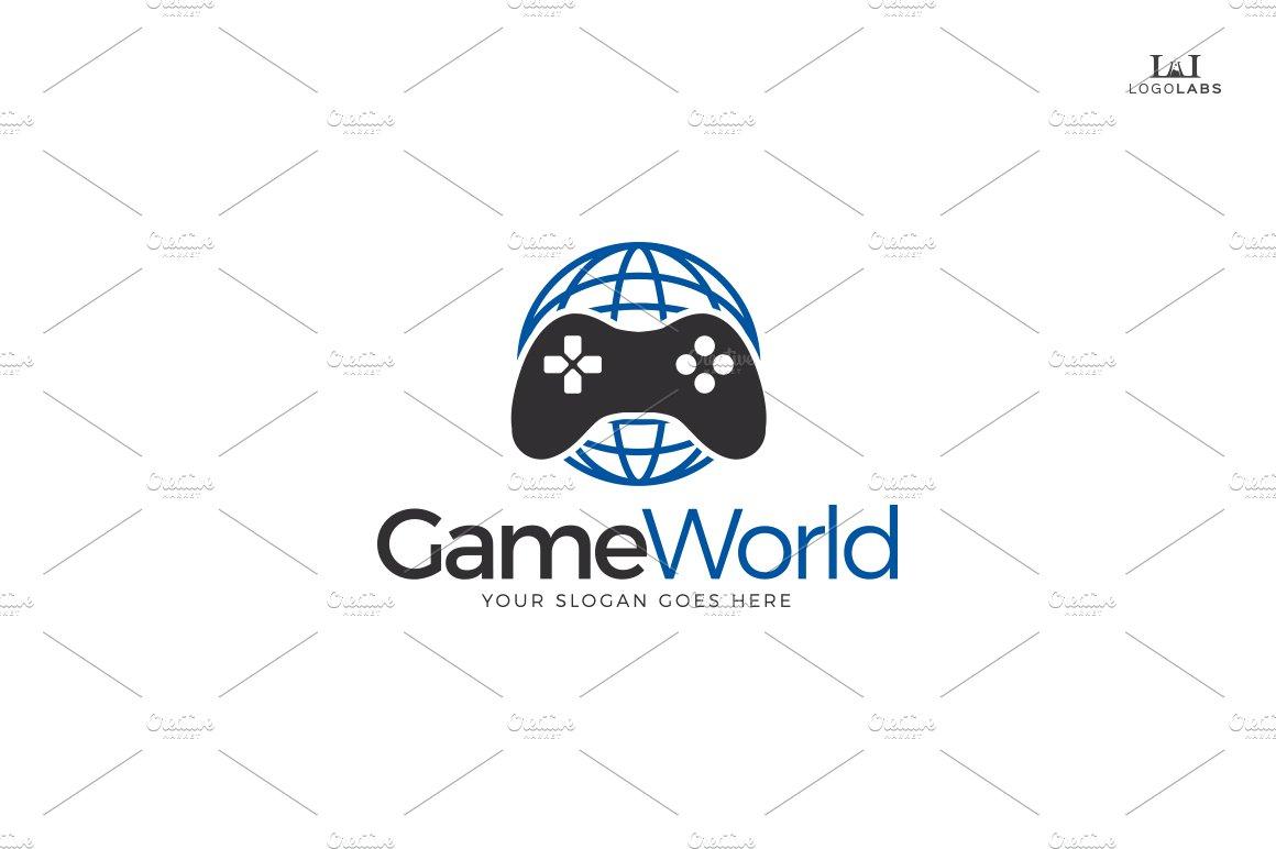 Game world logo logo templates creative market altavistaventures Images