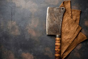 Butchers vintage cleaver for meat