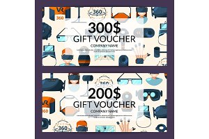 Vector gift voucher or discount card template