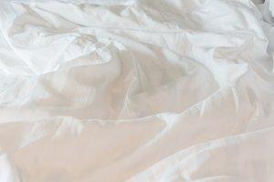 white blanket messy