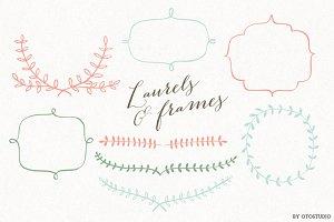 Laurels & Frames Clip art