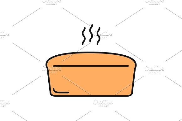 Brick Bread Loaf Color Icon