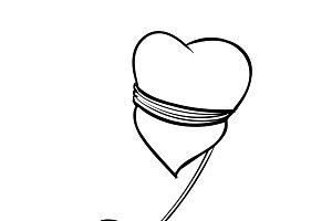 Illustration of love concept