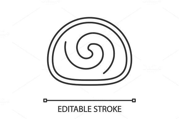 Swiss Roll Linear Icon