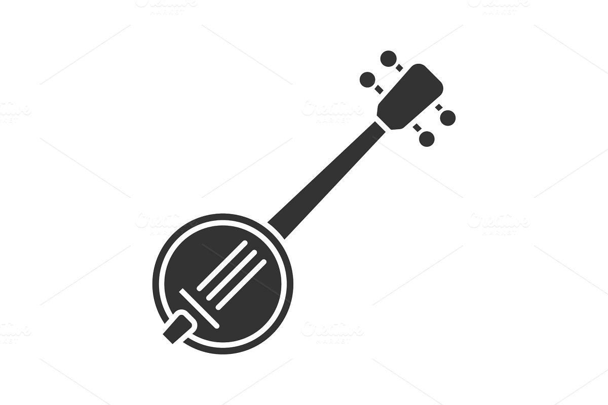 Banjo glyph icon