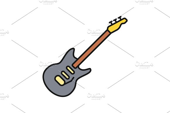 Electric Guitar Color Icon
