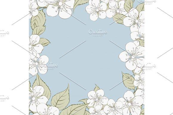 Blooming Sakura Rectangle Frame